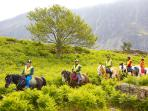 Horse riding in the Eskdale Valley