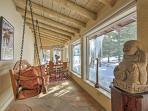 Enjoy window-framed views from the swing.