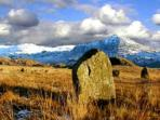 Stone circles up on Esk Fell