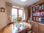 Dining table with views to the Phoenix Park