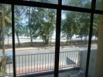 View from living room to the beach