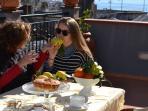 Annamaria guest's on the Villa Anna terrace