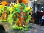 Cartagena Mardi Gras festival in February. Over 3,000 participants in fabulous costumes. A must see.