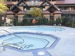Huge hot tub and heated pool open year round!