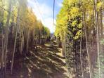 Ride a scenic chair lift to enjoy fall colors