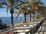 Marbella paseo (walkway) with restaurants above and below, stunning views!