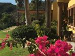 Looking from the main restaurant across to the terrace at Marbella club, next door to Santa Clara