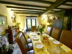 Dining Room with original oak panelling