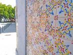 Av. Luísa Todi (photo's left side) is 2 min. from the house. Beautiful Portuguese tiles.
