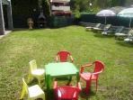 children's area in the garden