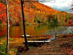 Lake lure in the fall