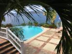 Pool view from side veranda.