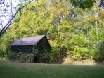 Our antique barn is picturesque and greets you when you drive up to the property.