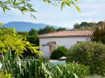 There are views of Mont Ventoux from the pool and garden