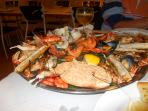 Seafood platter for two. 25 Euros at a local restaurant.