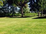 Open Parkland garden view from gite
