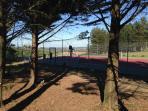 Tennis court in the village