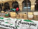 Sarlat market offers the most unbelievable selection of fresh cheeses, meats, vegetables and wines