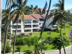 View of our building, our unit (i60) is the ground floor, left end unit and looks out to the ocean.
