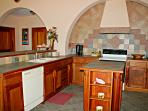 Beautiful mayan tile throughout your fully equipped kitchen