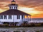 Boca Grande lighthouse on Gasparilla Island - close to the villa