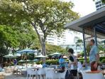 Cosy beach hotel restaurant