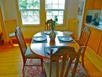 Dining table for 6 with 2 extra stools