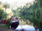 Canoes Are Provided at the Main Lake