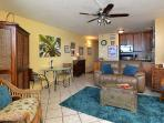 lliving room and kitchen with all appliances and internet, HD TV, wireless