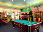 Game room located at resort.