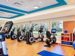 Fitness room located at resort.