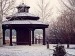 Gazebo,Fir,Tree,Park,Building