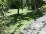 Lush lawns and gardens on an 1 acre block
