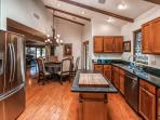 This spacious kitchen has everything you need to prepare your favorite dishes.