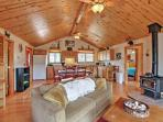 Unwind in this secluded, 3-bedroom, 2-bathroom vacation rental cabin!
