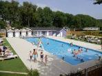 Outdoor swimming pool at Wild Duck Haven Holiday Park near to Great Yarmouth.