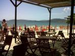 A cafe on the beach
