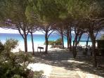 Maria pia beach a pleasant walk from the apartment