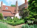 The kitchen garden to the rear gardens