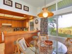 Ocean views from kitchen and dining area