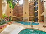 An indoor pool is also available.