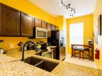 Kitchen plus full size washer and dryer upstairs!
