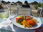 one restaurant at the beach, open all year