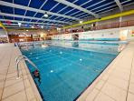 Newquay's largest indoor heated pool ( +outdoor pool, play area, sauna, steam room, family changing)