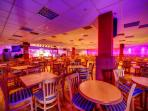 The Venue - clubhouse with nightly entertainment, kids clubs, arcade and basket meals served.
