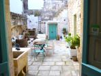 Main courtyard view from the kitchen.  Salento Guesthouse B&B