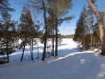 Western Winter Lake View