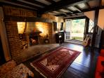 Living Room with cosy log fire