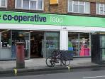 The Co-operative food supermarket (1 minute walk from flat)