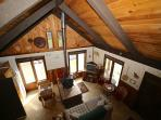 Come stay in our cozy cabin. Enjoy the view of the mountains, while setting around an open fire.